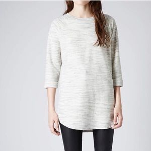 Topshop Space Dyed Tunic Sweater